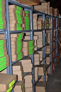 Rows of Worm boxes
